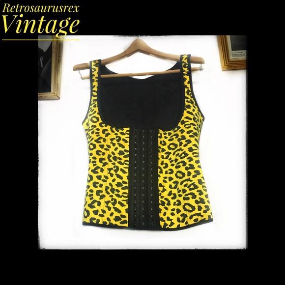 f97ae0a302 Yellow Leopard Print Latex Waist Trainer Medium